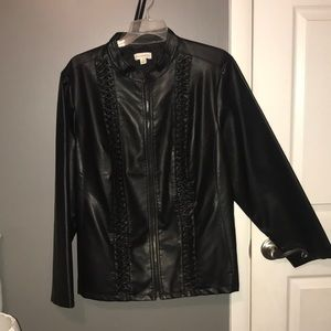 Susan Graver Leather Coat